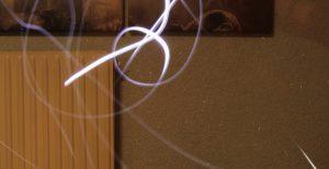 Lichtmalerei mit schwachem Licht